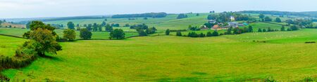 Panoramic view of countryside, in Nievre, Burgundy, France