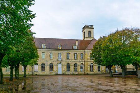 leonard: The Saint Leonard Abbaye in Corbigny, in Nievre, Burgundy, France Stock Photo