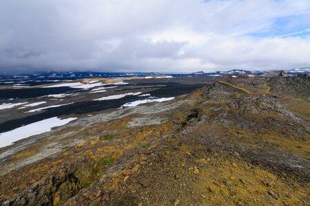 Active volcanic landscape on the Krafla volcano. Near Lake Myvatn, Northeast Iceland