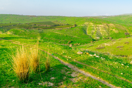 Landscape and countryside in the Golan Heights, in Northern Israel