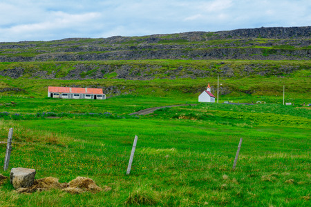 Countryside near the Vatnsfjordur fjord, in the west fjords region, Iceland