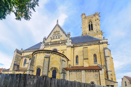 the loire: The Cathedral (Cathedrale Saint-Cyr-et-Sainte-Julitte), in Nevers, Burgundy, France