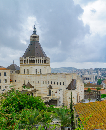 The Church of the Annunciation, in Nazareth, Israel Stock Photo
