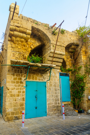 View of an old ottoman building in the old city of Acre (Akko), Israel