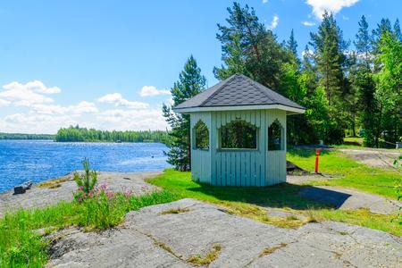 Landscape of lakes in Tappuvirta, Shouthern Savonia, Lakeland region, Finland