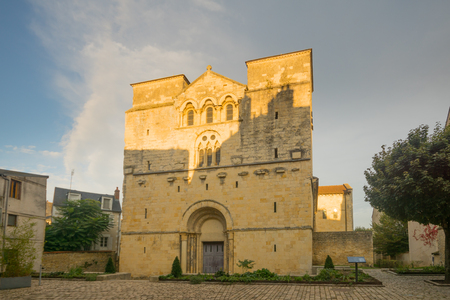 st: View of the Saint-Etienne church in Nevers, Burgundy, France Editorial
