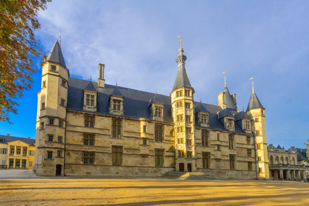View of the Ducal Palace in Nevers, Burgundy, France