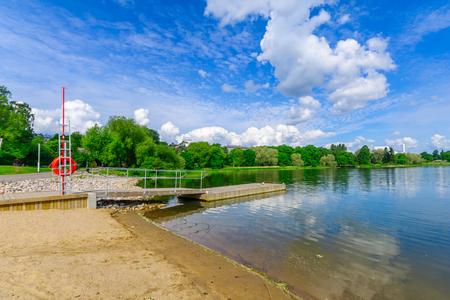suomi: View of the Toloviksparken park, in Helsinki, Finland Stock Photo