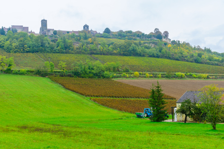 View of the Vezelay village in Burgundy, France Stock Photo