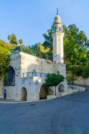 JERUSALEM, ISRAEL - OCTOBER 26, 2017: The Traditional site of Mary Spring, in the old village of Ein Karem, in Jerusalem, Israel
