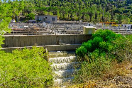 JERUSALEM, ISRAEL - OCTOBER 26, 2017: View of a Sewage Treatment Plant, in the Sorek Valley, near Jerusalem, Israel Editorial