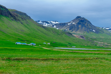 Landscape and countryside in the Snaefellsnes peninsula, west Iceland