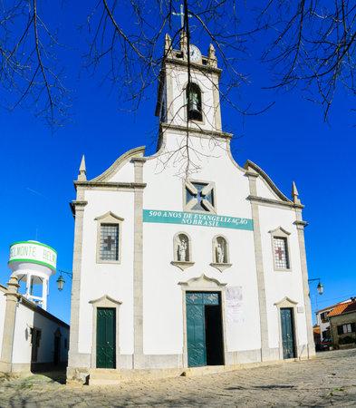 BELMONTE, PORTUGAL - DECEMBER 22, 2017: The Igreja Matriz de Belmonte church, in Belmonte, Castelo Branco, Portugal