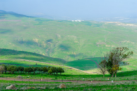 Landscape of the Tabor Stream, in the lower Galilee, Northern Israel Stock Photo