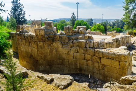 The remains of the Basilica of the holy place of Emmaus-Nicopolis, Israel