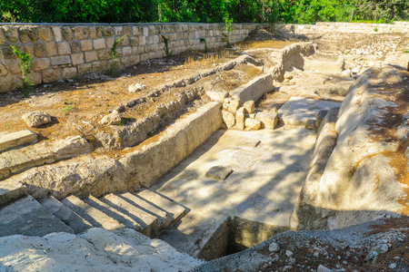 The remains of a roman bathhouse in Emmaus-Nicopolis, Israel Editorial