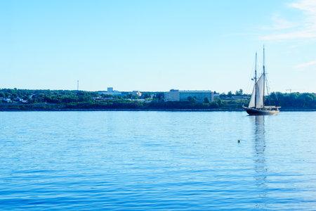 Halifax, Canada - September 23, 2018: The Bluenose II fishing schooner, in Halifax harbor, Nova Scotia, Canada