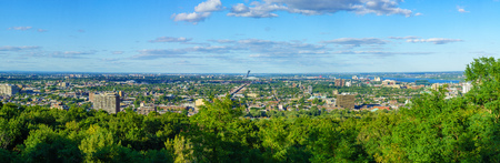 Panoramic view of the eastern part of Montreal (from Mont Royal). Quebec, Canada