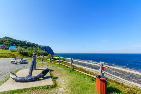 Coastal view in La Martre, Gaspe Peninsula, Quebec, Canada