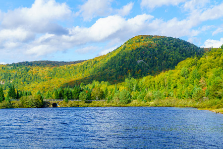 View of the Petit Lac Monroe, in Mont Tremblant National Park, Quebec, Canada