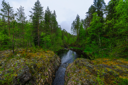 View of the Patoniva river in Oulanka National Park, Finland