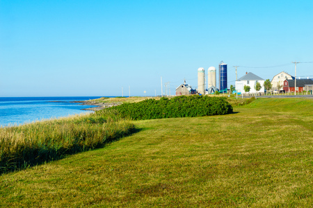 Countryside in Baie-des-Sables, in the Bas-Saint-Laurent region of Quebec, Canada