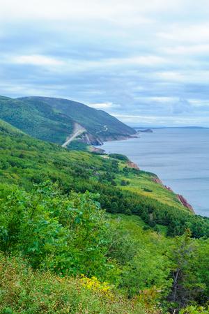 Landscape (near Cap Rouge) along the Cabot Trail, in Cape Breton island, Nova Scotia, Canada