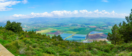 Panoramic view of the Hula Valley landscape, in Northern Israel Banque d'images - 120476474