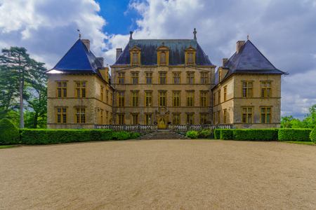 Fareins, France - May 05, 2019: View of the chateau de Flecheres, Ain department, France