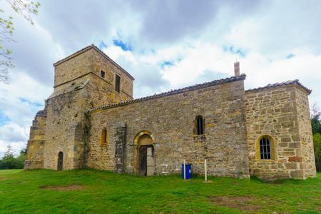 View of the Chapelle de Saint-Bonnet, in Beaujolais, Rhone department, France Banco de Imagens
