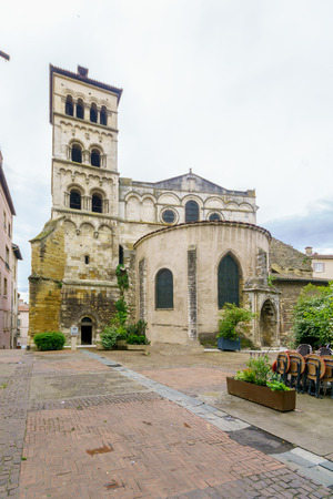 View of the Saint-Andre le Bas Abbey, in Vienne, Isere department, France