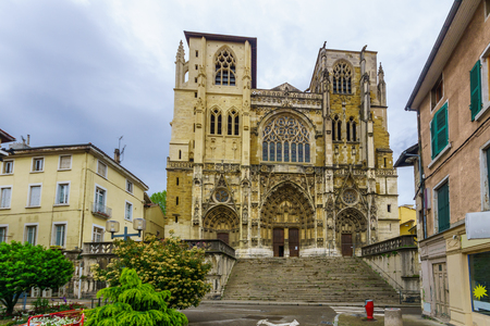 View of the cathedral of Saint-Maurice, in Vienne, Isere department, France