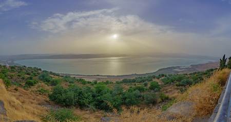 View from the south east of the Sea of Galilee, Northern Israel
