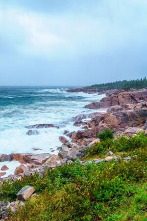 Landscape (near Lakies Head), in Cape Breton Highlands National Park, Nova Scotia, Canada