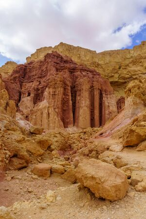 View of the Ammerm columns rock formation, Arava desert, Southern Israel