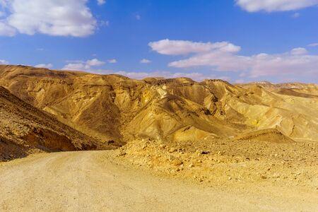 View of Nahal Amram (desert valley) and the Arava desert landscape, Southern Israel
