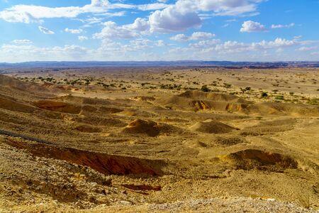 Desert landscape in the Sheizaf Nature Reserve, the Arava desert, southern Israel