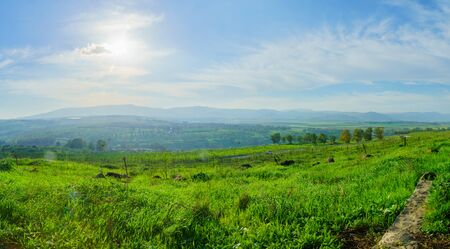 View of the Hula Valley from the Gadot Observation Point. Northern Israel