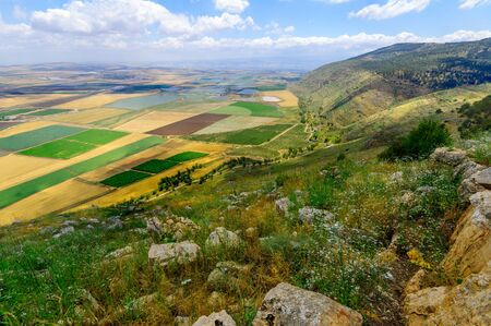 Landscape of the Jezreel Valley from Mount Gilboa. Northern Israel