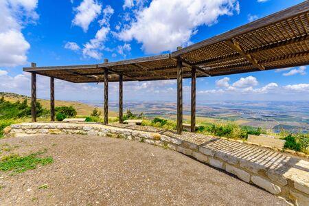The Dovi and Eran Shamir Lookout on the Gilboa ridge. Northern Israel