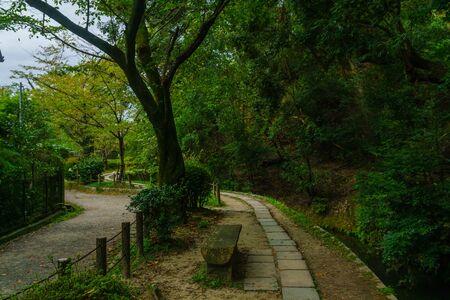 View of the Philosophers Path (Tetsugaku no michi), in Kyoto, Japan Archivio Fotografico