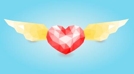 Wing of heart Illustration