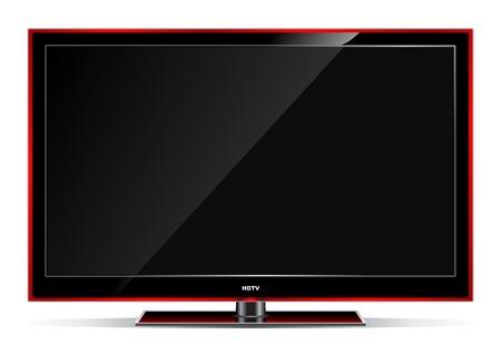 illustration of plasma LCD TV on white background.