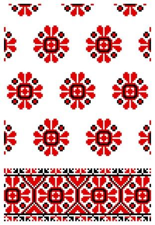 illustrations des ornements de broderie ukrainien, les patrons, les cadres et les frontières. Vecteurs
