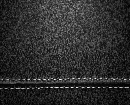 Real close-up of black leather background texture photo