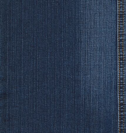Real blue jeans denim texture, background with stitch Stock Photo - 9066288