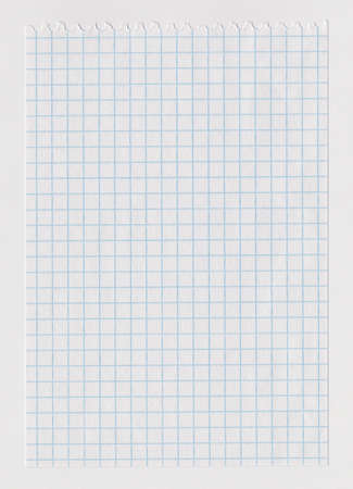 White notebook paper sheet torn from notebook Stock Photo - 9066255