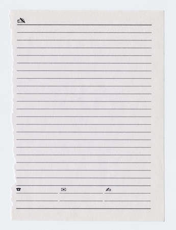 White notebook paper sheet torn from notebook Stock Photo - 9066258