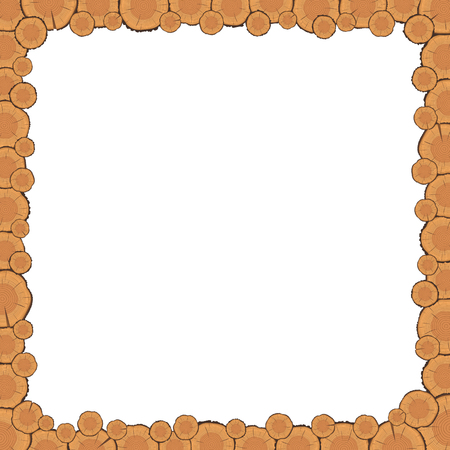 tree rings: Vector tree rings frame with empty space