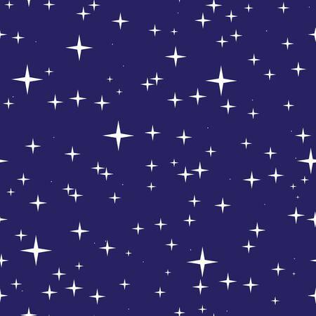 Astratto modello senza saldatura con cielo notturno e le stelle. Cielo stellato texture. illustrazione vettoriale EPS8.